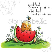 Stamping Bella Cling Rubber Stamp 17cm x 11cm -Gilbert Has A Snack