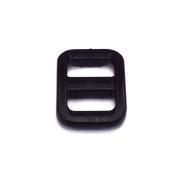 25pcs 1cm Plastic Tri-glide Triglides Slides Buckles Black