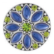 Ginger Snaps LUNA BLUE / OLIVINE SN08-63 Interchangeable Jewellery Snap Accessory