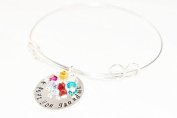 Sterling Silver Adjustable -Hand stamped-we love you Grandma - Mother's Day