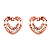 0.22 ct twt Diamond Earring Jackets mounted in 10k White Gold