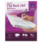 Avery Flip Back 360 Degree Binder with 2.5cm Ring, White, 1 Binder