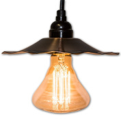 String Light Company VP95 Vintage Pendant Light with Copper Shade and Antique Vintage Bulb