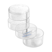 InterDesign Rain Pivoting Cosmetic Organiser with Lid for Vanity Cabinet to Hold Makeup, Beauty Products - Clear