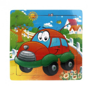 Doinshop Animal Wooden Floor Puzzles Education And Learning Puzzles Toys 9 Pieces