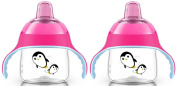 Philips Avent 210ml My Penguin Sippy Cup, 2 Pack, Pink/Pink