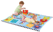 Baby Activity Play Mat - Discovery Mat With Spinning Flowers And Play Ball