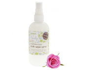 Smell the Roses Cloth Wipe Spray, Bottom Spray. Organic Ingredients. 270ml Green + Lovely