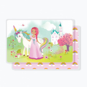 Laminated Placemat for Kids - Princess & Unicorn - Sea Urchin Studio