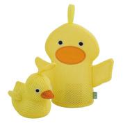 Rich Frog Wacky Wash Mitt and Bath Sponge Combo - Duck