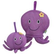 Rich Frog Wacky Wash Mitt and Bath Sponge Combo - Octopus