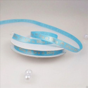 "Baby Shower Printed Satin Ribbon ""It's a Girl & Boy"" 1cm - 2.2cm 25 Yard Roll"