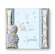 Silver Touch USA Sterling Silver Picture Frame, Blue, 8.9cm x 13cm