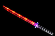 Ninja Sword Toy Light-Up (LED) Deluxe with Motion Activated Clanging Sounds - RED