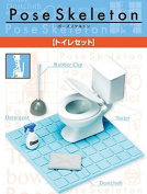 1 X Pose Skeleton Accessory Toilet Set