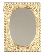 Dollhouse Miniature Small Gold Framed Mirror