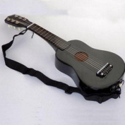 New 60cm Wooden Black Guitar Acoustic Muscial Instrument Toy Kids Gift