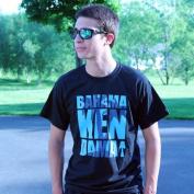 Bahama Kendama Tee Shirt - Black with Blue Graphic - Extra Large - XL