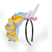 Plastic Unicorn Rainbow Headband