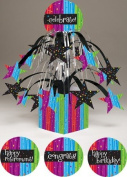 Pack of 6 Multi-Colour Milestone Celebrations Mini Cascade Foil Party Centrepieces
