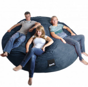 2.4m Round Navy Blue XXXL Foam Bean Bag Couch Microfiber Suede Giant SLACKER sack like LoveSac Beanbag Chair Biggest