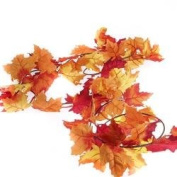 Artificial Autumn Maple Leaf Garlands for Fall Decor, Thanksgiving and Autumn Weddings