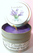 Lavender 120ml All Natural Soy Candle Tin Approximate Burn Time 36 Hours