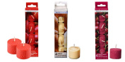 3-pack Assorted Scented Votive Candles Apple Cinnamon Vanilla and Black Cherry 12-ct