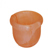 Natural Crystal Himalayan Salt Bowl Pink 100mm for Kitchen 4-Inch