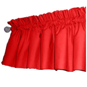 bkb Solid Colour Window Valance, Red/White