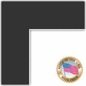 21x26 Black Custom Mat for Picture Frame with 17x22 opening size