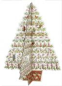 Caspari 12-Days of Christmas Tree 3D Standing Advent Calendar