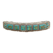 Turquoise and Silver 15cm Cabinet Pull - Set of 4