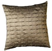 Trade AM Square Solid Accent Pillow, 46cm by 46cm , Mole