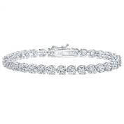 5.00 Ct Ladies Round Cut Diamond Three Prong Tennis Bracelet