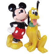 Westland Giftware Magnetic Ceramic Salt and Pepper Shaker Set, 10cm , Disney Mickey and Pluto BFF, Set of 2