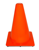 3M 90127-00001-20 PVC Non Reflective Safety Cone, Constructed of Extra-Heavy PVC, 30cm , Orange, 20-Pack