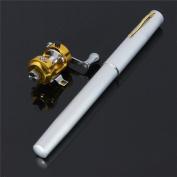 Meco 100cm Mini Portable Pocket Aluminium Alloy Fishing Rod Pen