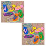 Flip Flop Necklaces ~ Plastic Flip Flop Approx. 6.4cm L ~ Assorted Colours ~ New