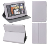 iTALKonline PADWEAR LEATHER LUXFOLIO Executive PURPLE Wallet Case/Cover/Stand With SMART TILT STAND For Amazon Kindle Fire Tablet