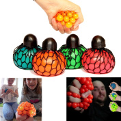 Dazzling Toys Mesh Squishy Ball - Pack of 12 - Assorted Colours