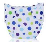 BuyHere Cute Unisex-baby Nappy,Blue Dots