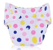 BuyHere Cute Unisex-baby Nappy,Pink Dots