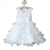 Baby Toddler Girls Princess Bridesmaid Fairy Dress. White and Silver Princess Dress. Occasion Wear / Bridesmaid Dress / Party Dress / Sparkle Princess Dress