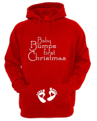Women's Festive Maternity 'Baby Bumps first Christmas' Hoodie