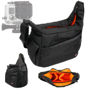 DURAGADGET Rugged SLR Camera Shoulder 'Sling' Carry Bag with Adustable Interior & Multiple Compartments for GoPro HD Hero 3+ / HD3+ , Hero 3 , Hero 2 and GoPro 1 (All Black, Silver, White & Motorsport Editions) & Accessories!