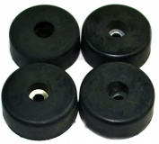 4 Round Cabinet Black Rubber Instrument Case Speaker Box Feet 3.8cm X .13cm HA-15