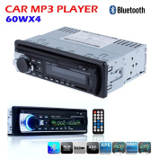 Masione® Bluetooth Car Audio Stereo 1 DIN In Dash 12V Fm Receiver with USB Mp3 Radio Player & USB SD Input AUX Receiver + Remote Control