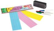 Pacon Dry Erase Sentence Strips, 7.6cm x 30cm , Assorted, 30 Strips
