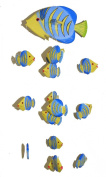Yellow Kissing Fish Mobile from Bali with 16 Hand Painted Fish - Suitable for Children - Fair Trade